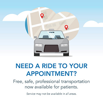 Free transportation to your appointment