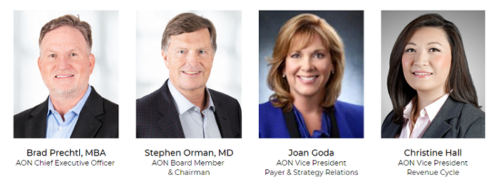 Brad Prechtl MBA, Stephen Orman MD, Joan Goda VP, Christine Hall VP